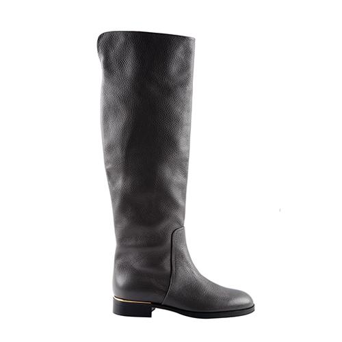 74475829d086 Grainy Leather Knee-High Boots - filafifithu filafifithu